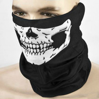 Fashion Halloween Skull Skeleton Party Masks Black Motorcycle Headwear Hat Scarf Neck Scary Sport Face Winter Ski Mask 1664984
