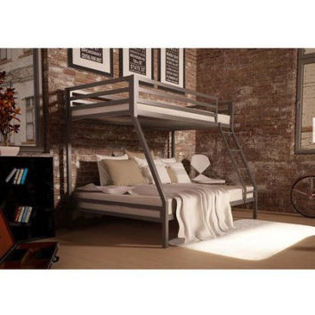 Kids Twin-over-Full Metal Bunk Bed