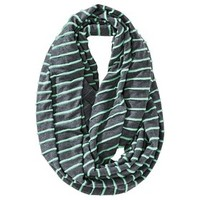 Mossimo Supply Co. Jersey Knit Mint Striped Infinity Scarf - Gray