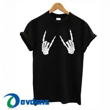 Metal Skeleton Hands T Shirt Women And Men Size S To 3XL