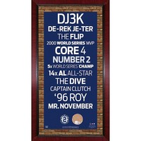 Steiner Sports New York Yankees Derek Jeter 16'' x 32'' Vintage Subway Sign with Authentic Field Dirt (Ynk Team)