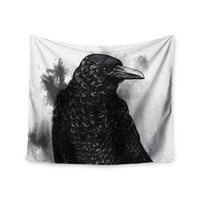 "Sophy Tuttle ""Crow"" Black White Wall Tapestry"