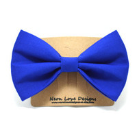 Cobalt Blue Hair Bow Barrette