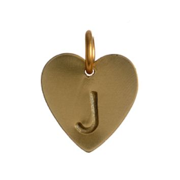 Heart Initial Charm