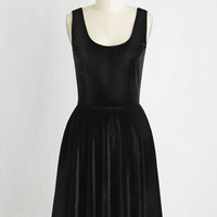 Mid-length Sleeveless Fit & Flare Zesty Festivities Dress in Onyx
