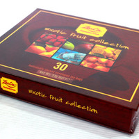 Exotic Fruit Collection, 30 bags, 54 g. premium Ceylon tea, сompiled by hand packed Sri Lanka nice gift box.