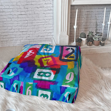 Natalie Baca Numerology Floor Pillow Square
