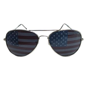American Flag / Aviator Sunglasses