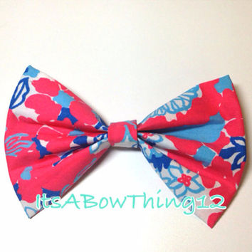 Lilly Pulitzer White Shell Yeah Bow