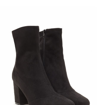 All My Days Faux Suede Chunky Booties