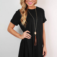 Plain Loose Causal Dress B007991