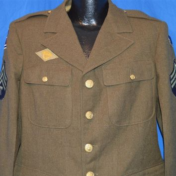 40s US Army WWII 69th Division Military Jacket size 38