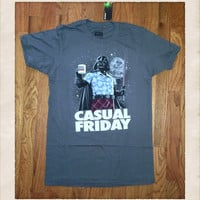 Mens Vintage Inspired Star Wars Darth Vader Casual Friday Tee Shirt