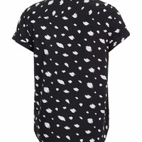 BLACK CLOUD PRINT SHORT SLEEVE SHIRT - Men's Shirts - Clothing - TOPMAN USA