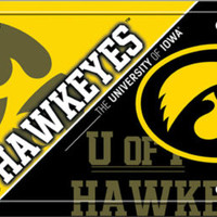 Iowa Hawkeyes License Plate Tag