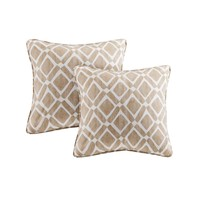 Natalie Printed Square Throw Pillow 2 Pack