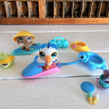 Littlest Pet Shop, LPS, LPS on the Go, Littlest Pet Shop Set, LPS Set, lps Beach Fun, Littlest Pet Fish, Littlest Pet Pelican, Littlest Pet