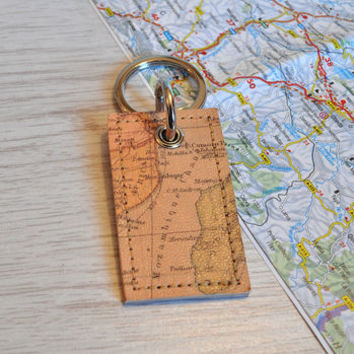 Personalised Map Keyring