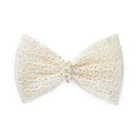 FOREVER 21 Crocheted Faux Pearl Barrette Cream One