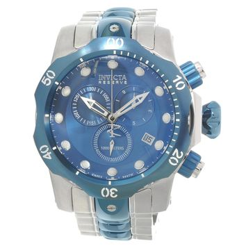 Invicta 80566 Men's Venom Reserve Swiss Chronograph Blue Dial Dive Watch