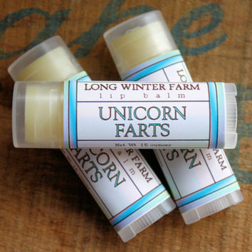 Unicorn Farts Lip Balm One Tube by LongWinterSoapCo