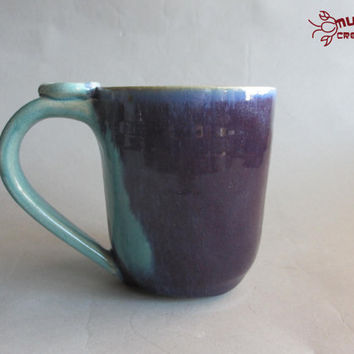 Ceramic Mug - Baby Blue and Purple