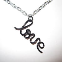 Love Chain Necklace by aLilJazzJewelry on Etsy
