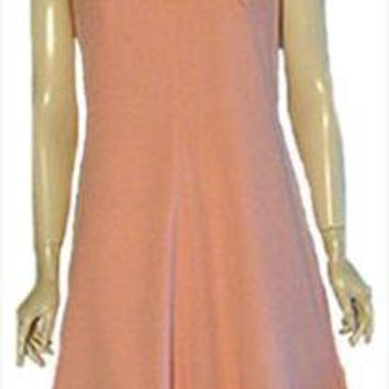 Peach A-line 70s Mini Dress