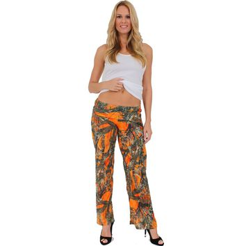 Blue Waist Band Loose Fit Pant