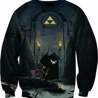Legend of Zelda Temple Sweater Crewneck Sweatshirt