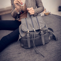 Comfort College Hot Deal Back To School On Sale Stylish Winter Soft Korean Rinsed Denim With Pocket Casual Backpack [6582315271]