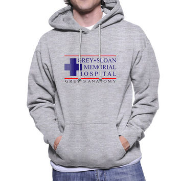 Grey Sloan Mermorial Hospital printed on Navy, White, Maroon or Light steel Hoodie