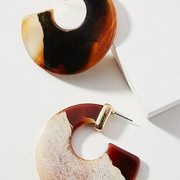 Mali Resin Hoop Earrings