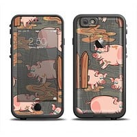 The Cartoon Muddy Pigs Apple iPhone 6/6s LifeProof Fre Case Skin Set