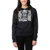 Obey Girls Marked For Life Charcoal Grey Pullover Hoodie at Zumiez : PDP