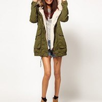 ASOS PETITE Fur Hooded Detachable Lined Parka at asos.com