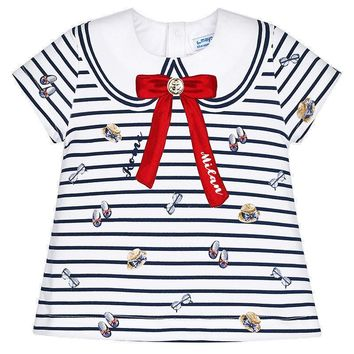Mayoral Baby Girls' Sailor Style Striped T-Shirt