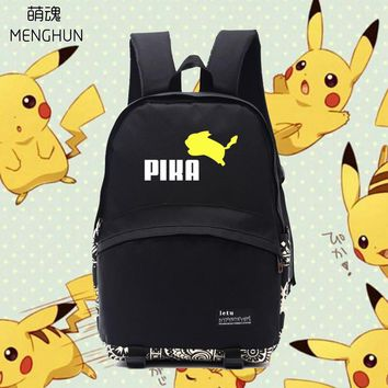 Lovely jumping Pikachu school bags Pikachu lovely backpacks  concept daily wear backpacks anime game fans gift NB251Kawaii Pokemon go  AT_89_9