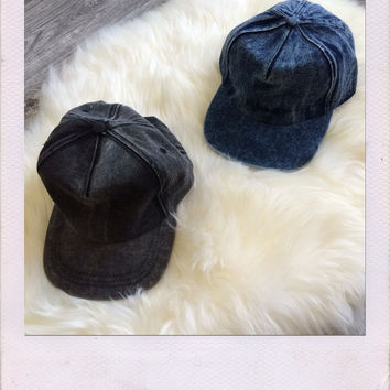 Odense Acid Wash Hat- Denim