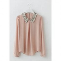 Sequin Collar Blouse -more colors