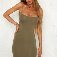 Lazy Sunday Dress Olive