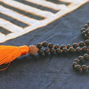 Buddhist Prayer Beads Blessed - Tibetan Japa Mala Necklace - Healing Stones Bracelet - Chakra Jewelry for Meditation Yoga