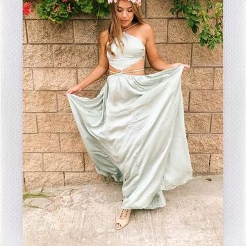 MARRAKESH SATIN MAXI- MINT from shopoceansoul