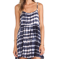 MINKPINK Shadow Play Dress in Navy
