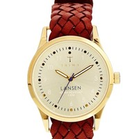 Triwa Gold Lansen Brown Braided Watch