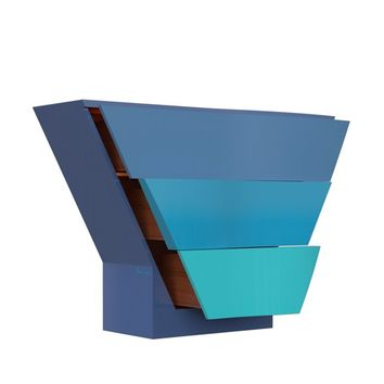 LACQUERED WOODEN CHEST OF DRAWERS OCEAN | PIERRE CARDIN - FORME
