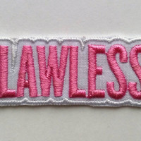 Patch #2. Flawless patch. Tumblr patches,  Embroidered Iron On Patch, Iron on Applique, Sewing Appliques