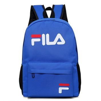 FILA College wind sports outdoor leisure bag computer bag travel bag Shoulder Backpack