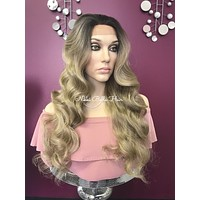 Ash Blond balayage lace front wig | Rachel