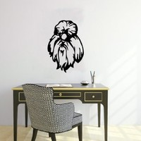 Housewares Wall Vinyl Decal Shih Tzu Cute Dog Animal Pet Shop Home Art Decor Kids Nursery Removable Stylish Sticker Mural Unique Design for Any Room